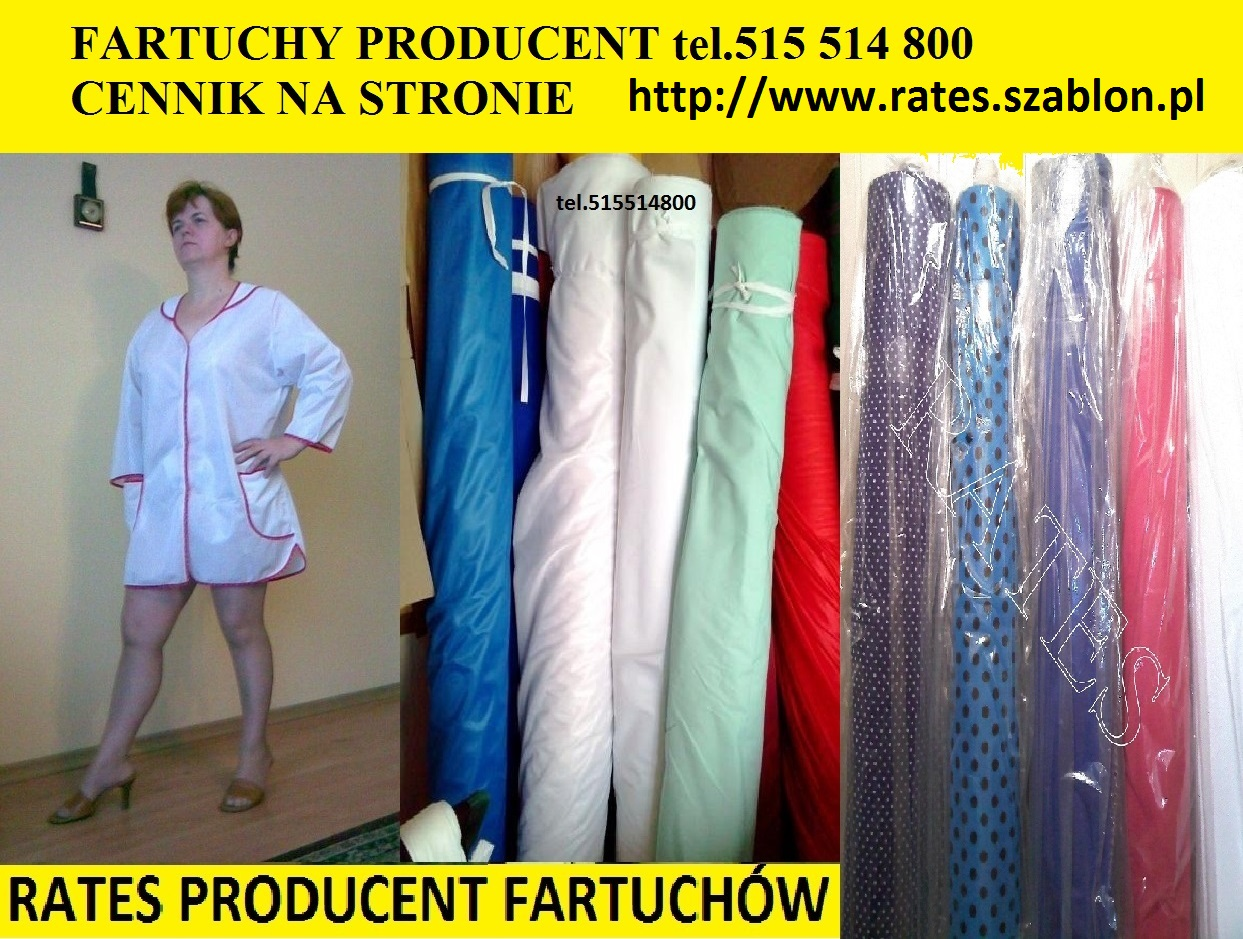 Fartuchy Rates Producent